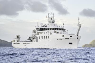Het nieuwe onderzoeksschip Belgica. ©Freire Shipyard