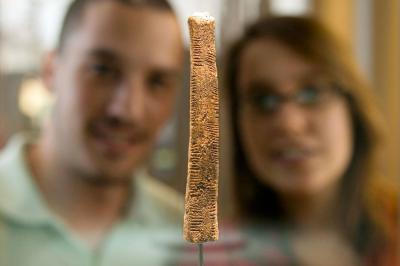 Photo du bâton d'Ishango dans la salle 250 ans de Sciences naturelles
