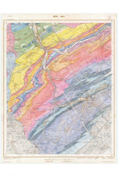 Handgeschreven geologische kaart van Spa door Jean-Marc Marion (2016).
