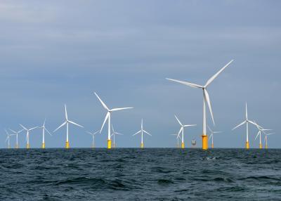 Parc éolien dans la partie belge de la mer du Nord © Hans Hillewaert