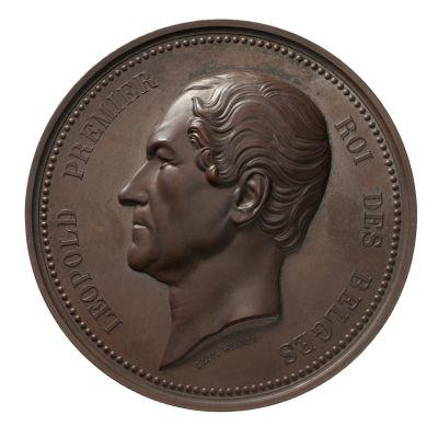 Münze mit dem Bild vom belgischen König Leopold I