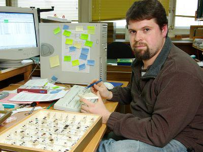 Wouter Dekoninck, conservator van de entomologische collecties