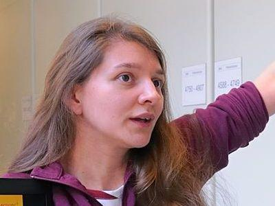 Palaeontologist and curator Annelise Folie