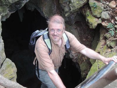 Olivier Pauwels, conservator van de collecties recente gewervelden (foto: Olivier Pauwels)