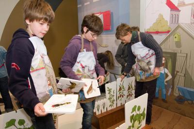 Daarna voegen de kinderen de dieren toe die van de gekozen planten leven.