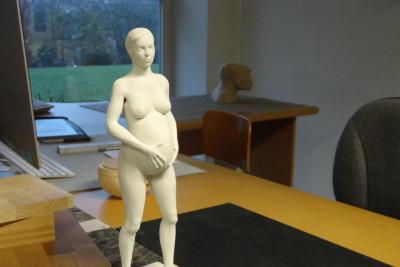 3D-print van een zwangere vrouw