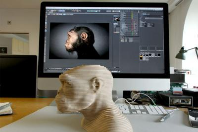 Busts in 3D (layer-by-layer and virtual)