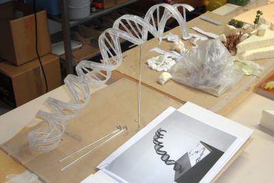 Stukje DNA (3D-print)