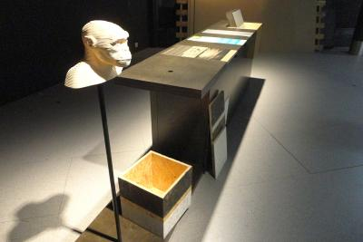 Prototype of the exhibition's furniture