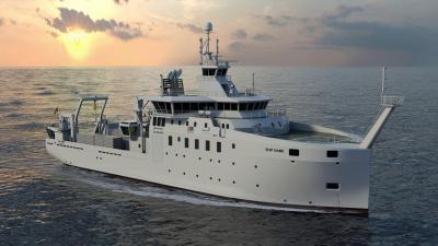 Impression artistique de Belgica II (© Freire Shipyard/Rolls-Royce Marine AS)