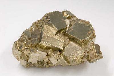 Aggregate of pyrite cubes
