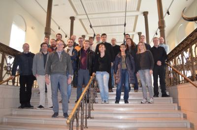 Deelnemers aan de workshop over Materie in suspensie in het KBIN.