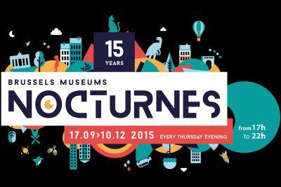 Affiche Nocturnes van de Brusselse Musea