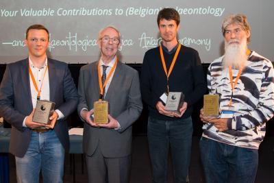 Winnaars van de Palaeontologica Belgica Awards en de Louis De Pauw Awards.