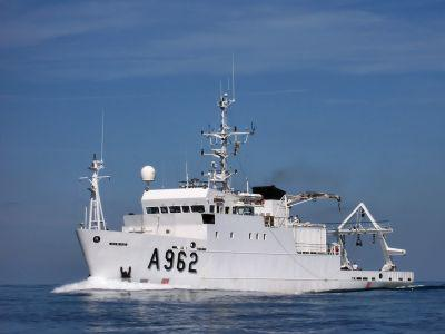 The research vessel RV Belgica (photo: RBINS)