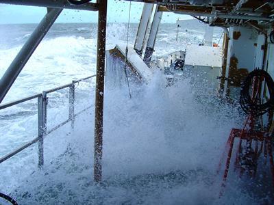 Storm aan boord van RV Belgica