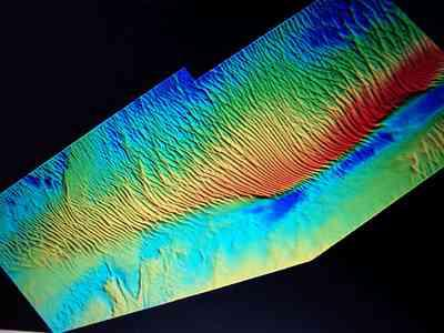 Multibeam image of a sandbank