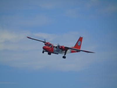 The Coast guard aircraft, equipped with the sniffer sensor. (Photo: RBINS/SURV)