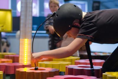 Activiteit waarbij de kinderen de nectar met of zonder hulp van ultraviolet licht moeten vinden