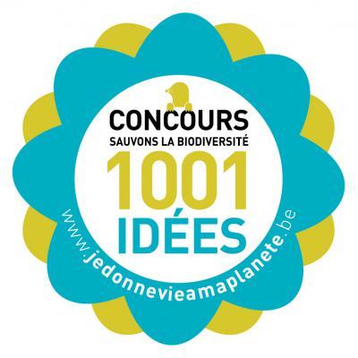 Autocollant du concours « 1001 idées – Sauvons la biodiversité »