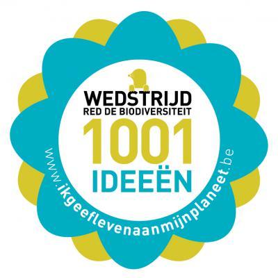 Sticker van de wedstrijd '1001 ideeën – Red de biodiversiteit'