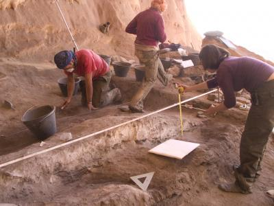 excavations at Takarkori (c) The Archaeological Mission in the Sahara, Sapienza University of Rome