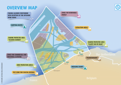 Integrated map with all utility functions, from the Marine Spatial Plan 2020-2026.