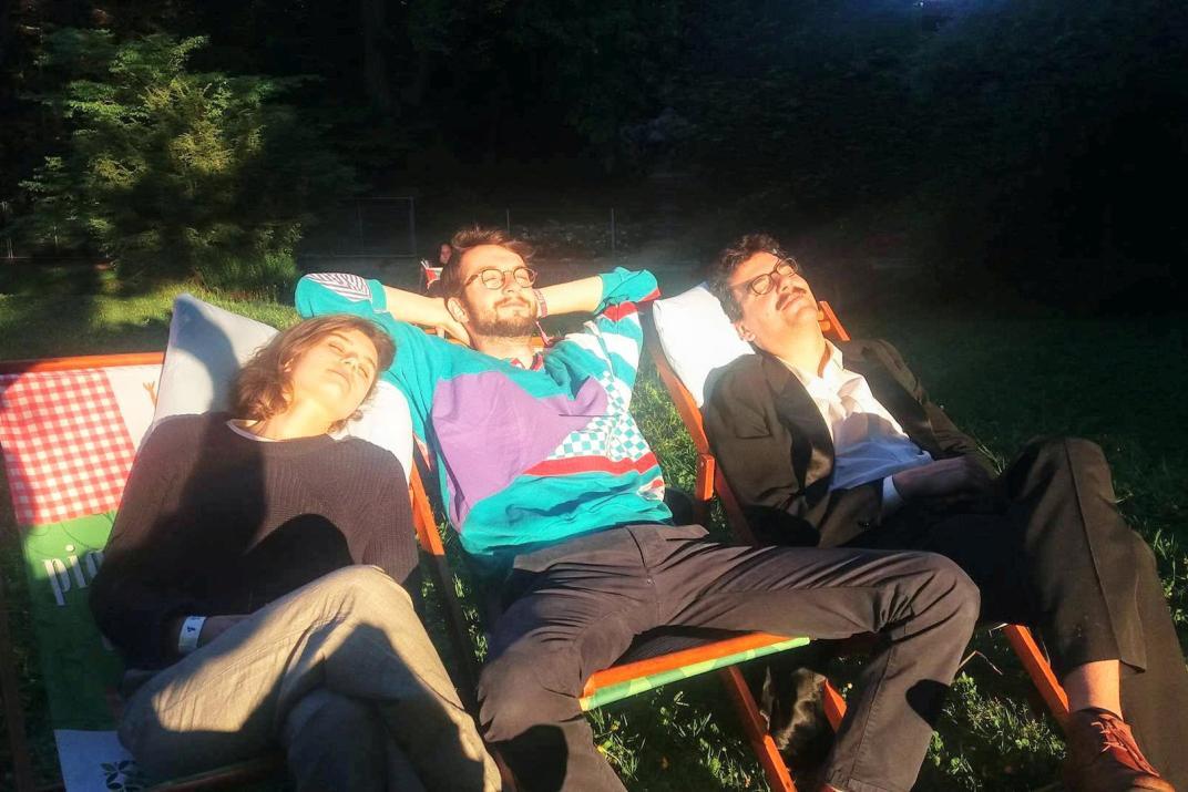De drie artiesten van Gâteau Gant