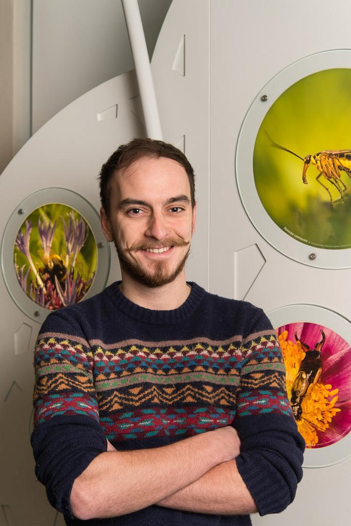 Jonas Jossels, guide-animateur au Service éducatif (photo : Thierry Hubin, IRSNB)