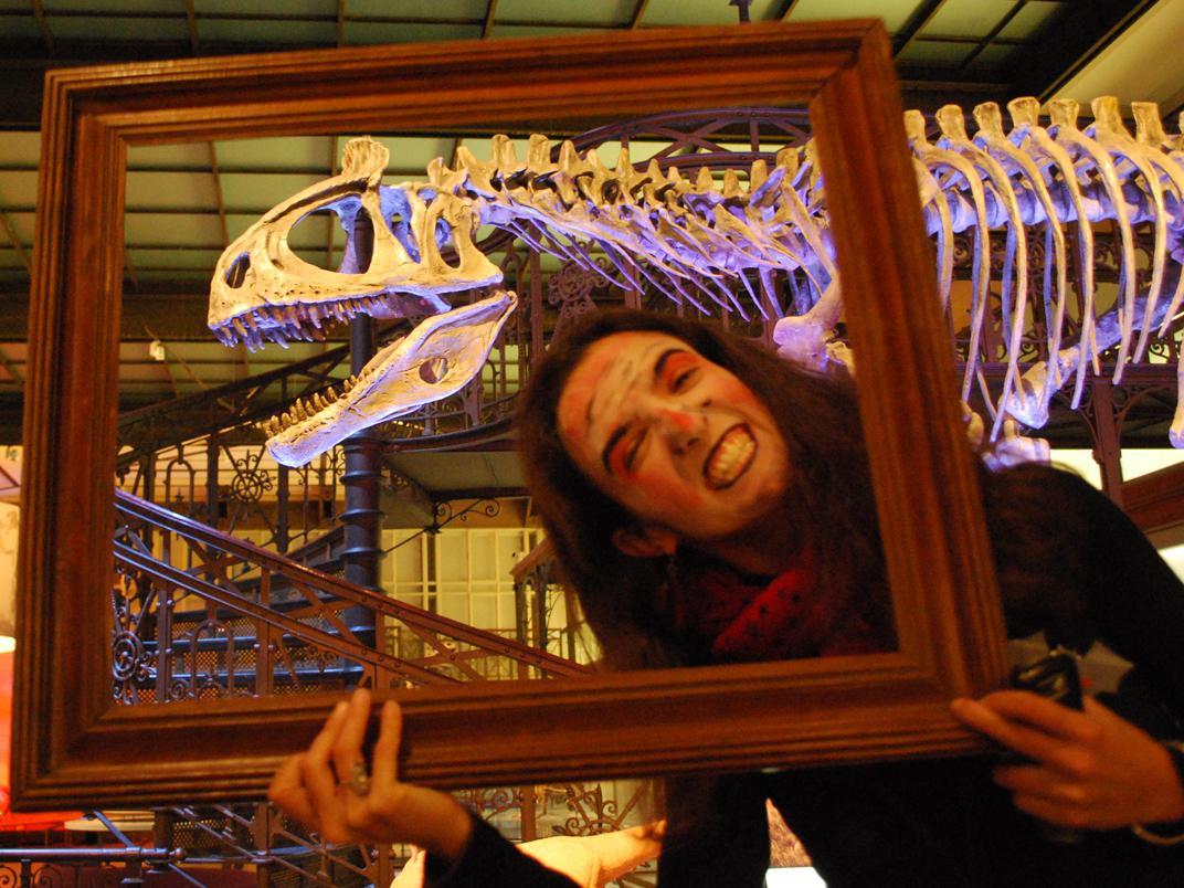 Séance photo lors de la nuit d'Halloween au Muséum