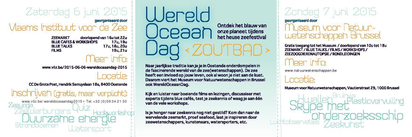 Uitnodiging Wereld Oceaan Dag 2015 B