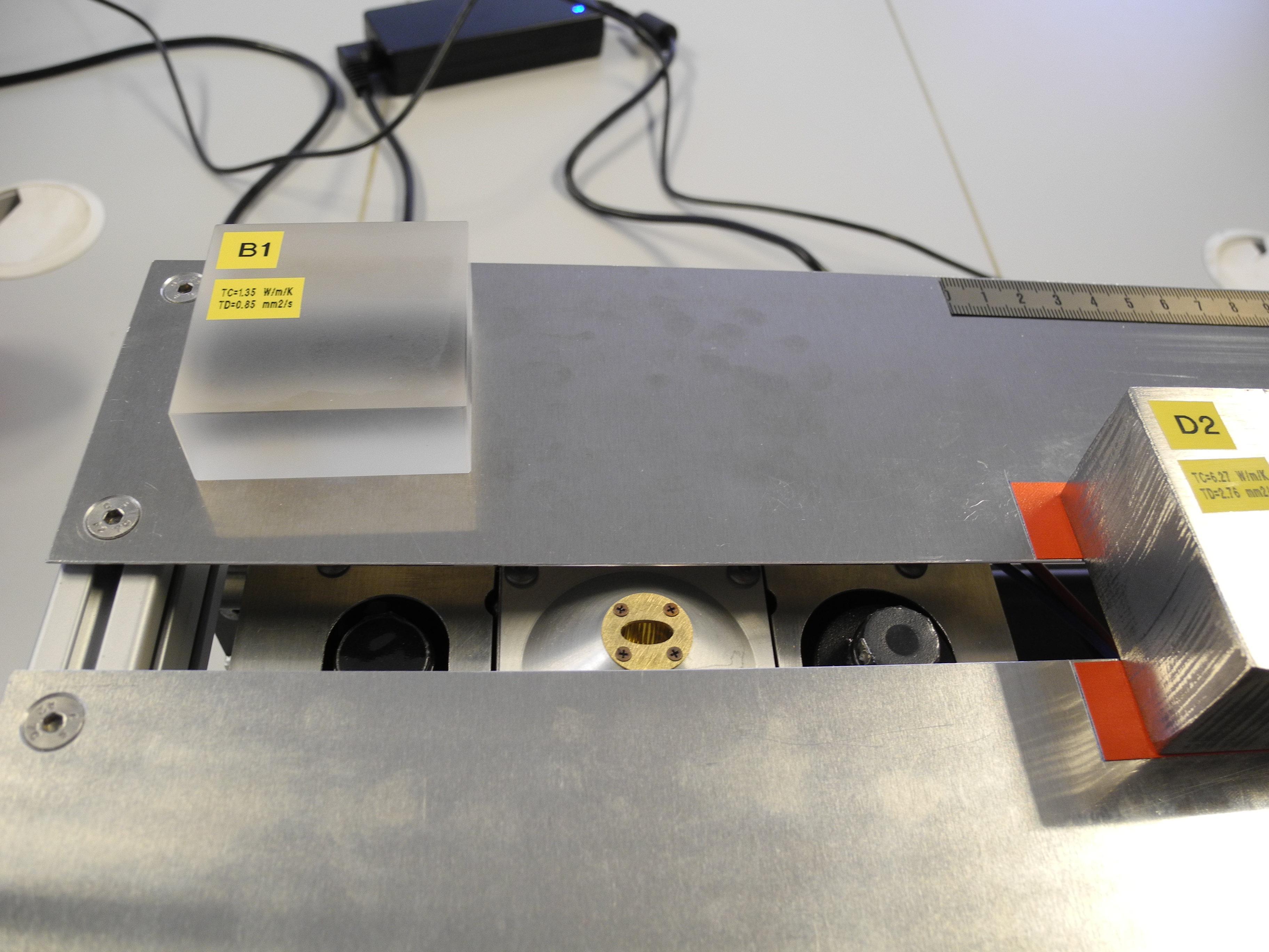 TCS: hot sensor, heat source, cold sensor