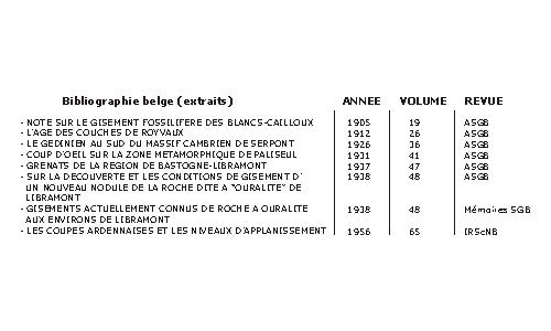 La boite de dialogue montre une vue très partielle (en nombre d'enregistrements et de colonnes) de la base de données « bibliographie » associée à la seule carte 186W - Rochefort. Les titres des articles sont présentés dans la langue de publication.