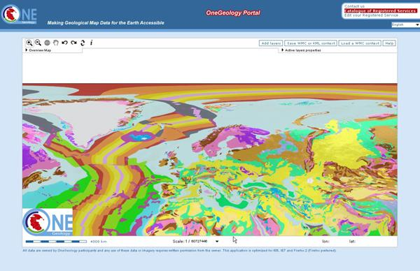 Géologie en Europe à l'échelle 1:25M