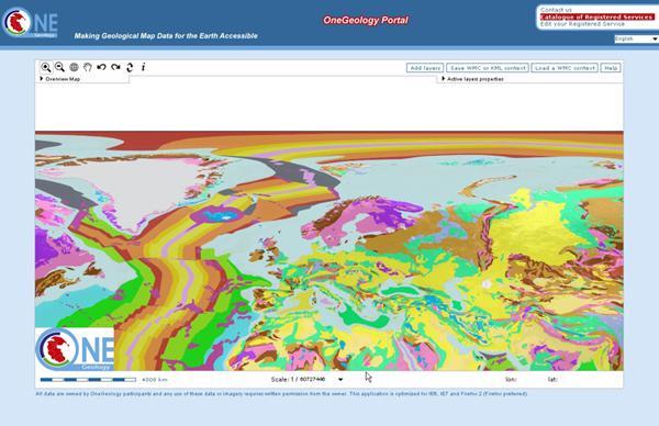 Geologie in Europa op schaal 1:25M