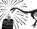Ben, le platéosaure, souffle les bougies des 10 ans de la Galerie des Dinosaures