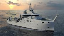 'Artist's Impression' van de Belgica II (© Freire Shipyard/Rolls-Royce Marine AS)