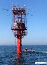 The Westhinder measurement platform. © A. Norro/RBINS