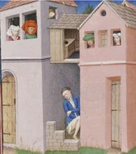 Een middeleeuwse latrine (Boccaccio, Decamerone)