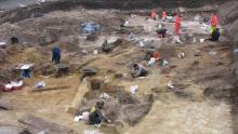Opgravingen Sint-Romboutskerkhof Mechelen (Foto: Dienst Archeologie - Stad Mechelen)