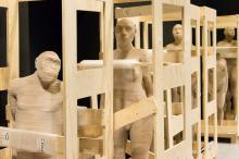 3D-modellen van enkele van onze voorlopers. (Foto: Thierry Hubin, KBIN)