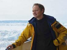 Cédric d'Udekem d'Acoz à bord du navire de recherche Polarstern sur l'Océan Austral