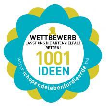 Logo des Wettbewerbs 'Lasst uns die Artenvielfalt retten'