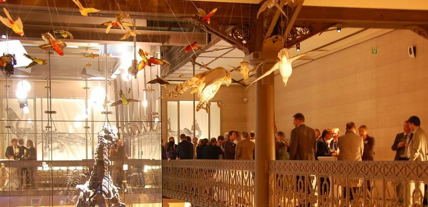 Event on the mezzanine of the Dinosaur Gallery