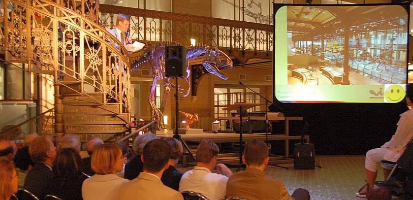 Een buitengewone presentatie in de Galerij van de Dinosauriërs