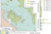 Plan du site de fouilles dans le désert Pisco-Ica dans le Sud du Pérou, où ont été notamment mis au jour 12 spécimens de la baleine à bec éteinte Messapicetus gregarius. (Illustration : G. Bianucci)
